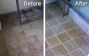 bathroom tiles cleaning